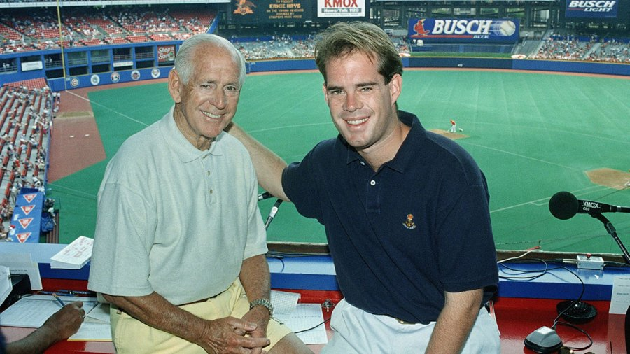 Jack And Joe Buck, St. Louis, USA St. Louis Cardinals Hall of Fame Broadcaster Jack Buck, left, and his son Joe Buck celebrate Father's Day as they go into their fifth season of broadcasting St. Louis Cardinals Baseball together in St. Louis 18 Jun 1995
