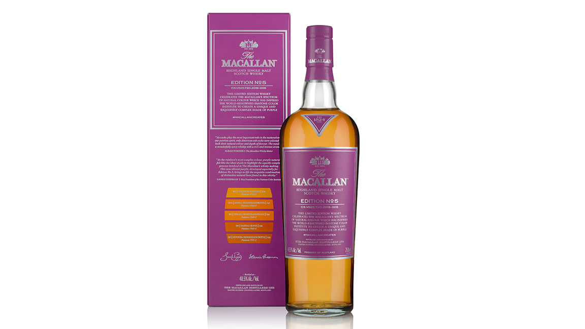 "Macallan Partners with Pantone Institute for a Colorful New ""Edition"" Series Whisky"