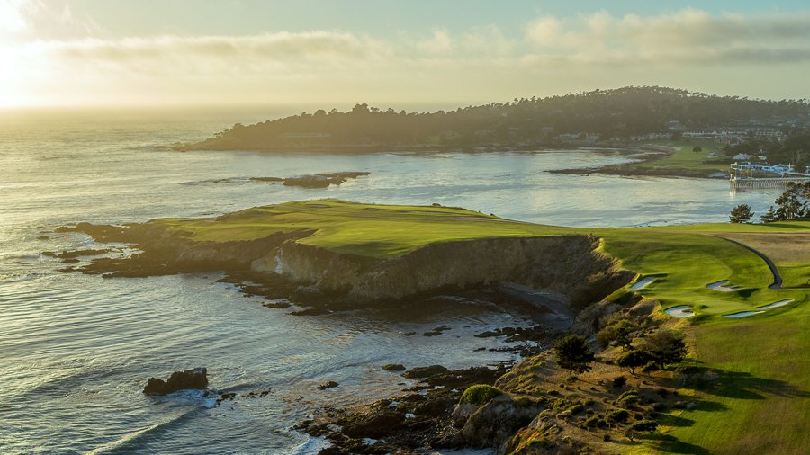 Golf links at Pebble Beach; Monterey and Carmel
