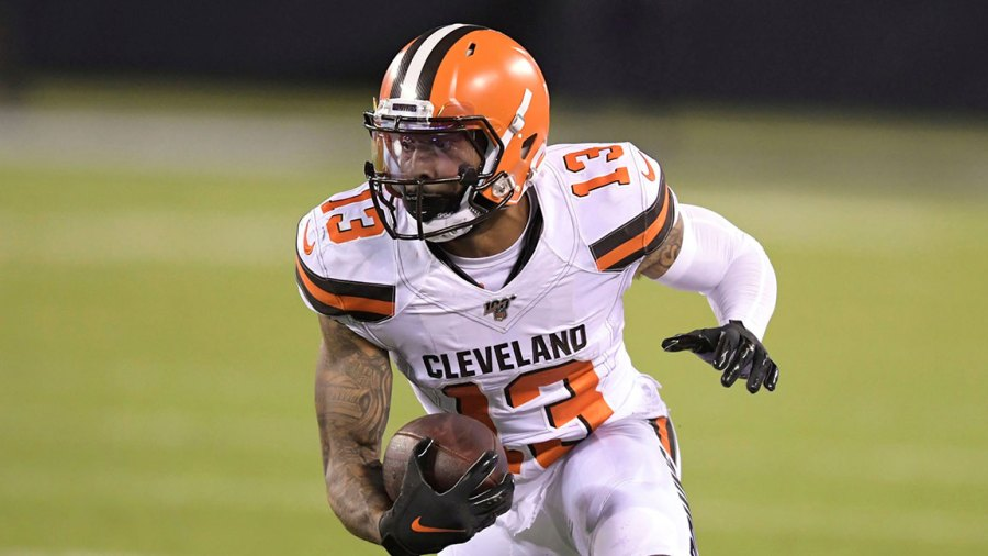 Browns Football, East Rutherford, USA - 16 Sep 2019 Cleveland Browns' Odell Beckham (13) during the second half of an NFL football game against the New York Jets, in East Rutherford, N.J 16 Sep 2019