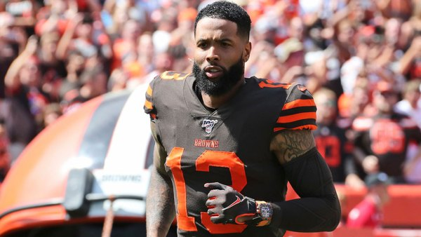 Browns Beckham Watch Football, Cleveland, USA - 08 Sep 2019 Cleveland Browns wide receiver Odell Beckham Jr. is introduced as he runs out on the field before an NFL football game against the Tennessee Titans, in Cleveland. The flashy, fashionable wide receiver sported an expensive watch, worth over $250,000, during his debut Sunday. The NFL plans to speak with Browns star Odell Beckham Jr. about wearing a watch in games