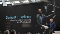 Amazon Gadget Event, Seattle, USA - 25 Sep 2019 Dave Limp, senior vice president for Amazon devices & services, talks about new celebrity voices, including actor Samuel L. Jackson, that will be made available on the tech company's Alexa devices, during an event in Seattle 25 Sep 2019