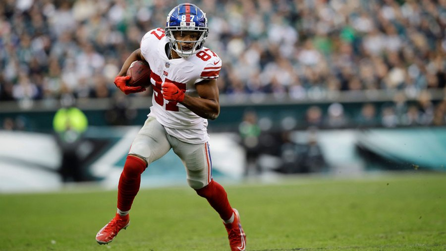 Giants Eagles Football, Philadelphia, USA - 25 Nov 2018 New York Giants' Sterling Shepard runs with the ball during the second half of an NFL football game against the Philadelphia Eagles, in Philadelphia 25 Nov 2018