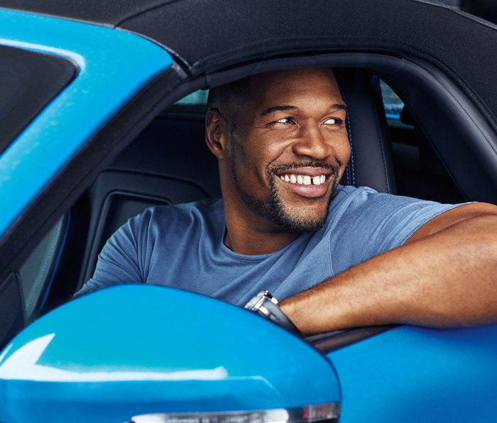 Strahan wears T-shirt by John Varvatos and watch by Robert Dubuis.