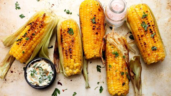 summer corn, grilled