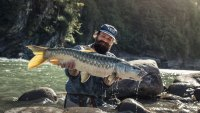 Oliver White fishing in Bhutan for the rare and elusive golden mahseer