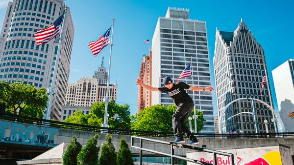 Ryan DeCenzo skates at Red Bull Hart Lines in Detroit, Michigan, USA on 11 May, 2017.