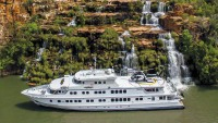Australia cruise: The 164-foot True North, with a helipad for inland adventures, may be the best way to explore the Kimberley.