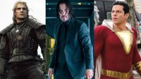 best celebrity workouts - Henry Cavill / Keanu Reeves / Zachary Levi, Shazam / John Wick 3 / The Witcher, Lionsgate / Netflix Warner Bros.