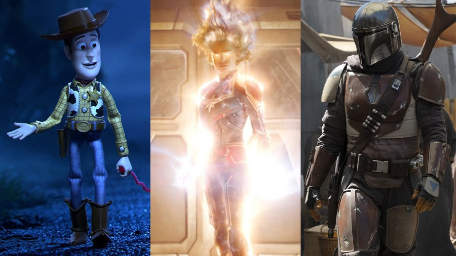 Toy Story 4, Captain Marvel, and The Mandalorian, all coming to Disney+ eventually