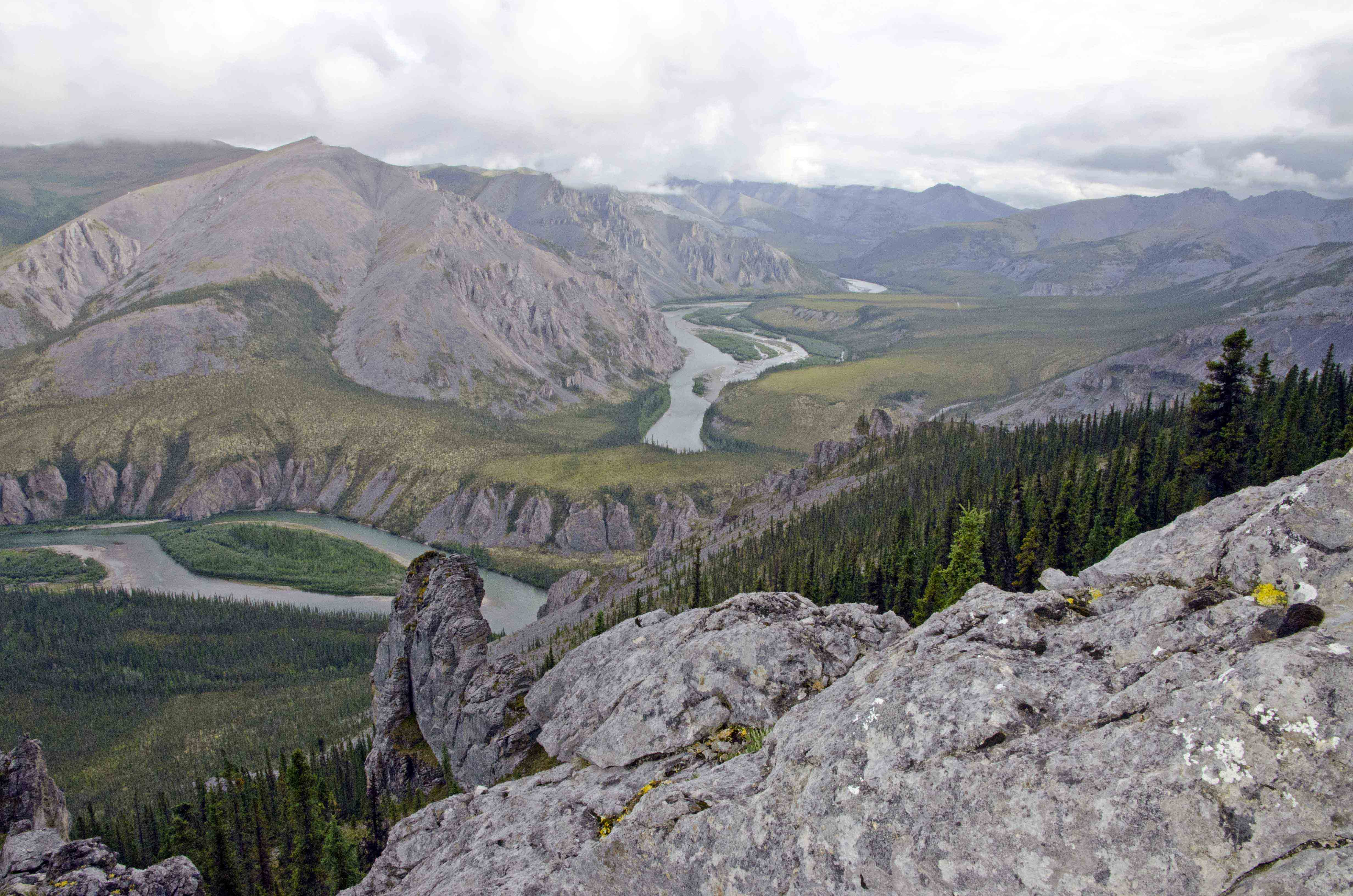 Deep canyons and high ridges along Yukon's Hart River.