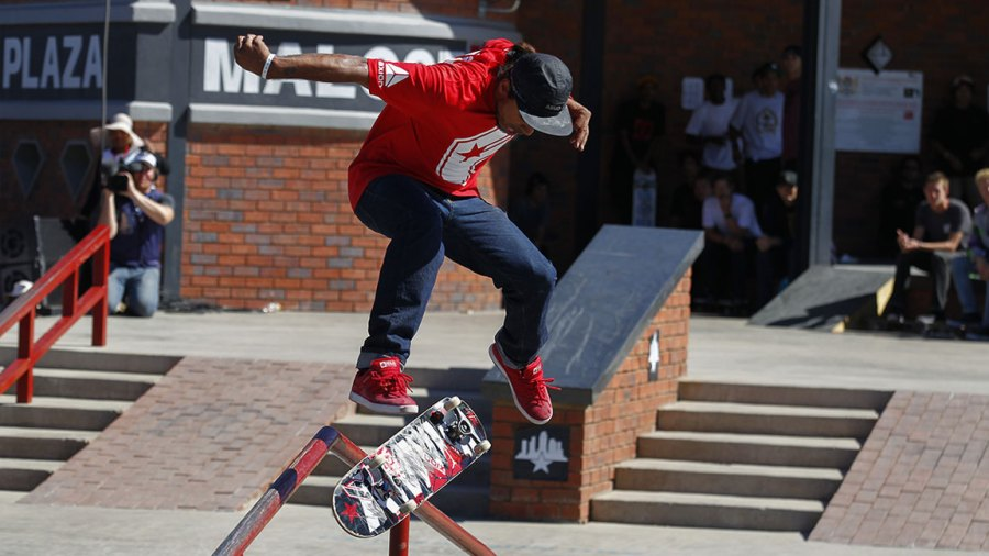 4,500px x 3,108px, 40.0MB @300ppi Add to lightbox South Africa Skateboarding World Championship - Sep 2012 Skateboarder Manny Santiago From the Usa Competes on the Street Course During the 2012 Skateboarding World Championships Maloof Money Cup in Kimberley South Africa 29 September 2012 the World's Best Skateboarders Are Competing For the Biggest Cash Prize in Skateboarding in the Three Disciplines of Street Vert and Mega Ramp the Maloof Money Cup South Africa Skate Park is Built Next to the Famous Kimberley Diamond Mine and is a New Destination For Skateboarders Around the World As Well As Being a Centre For Youth Development and Community Upliftment Through the Skate For Hope Programme Initiated by the Us Hotel Property Ticoons the Maloof Brothers South Africa Kimberley 29 Sep 2012