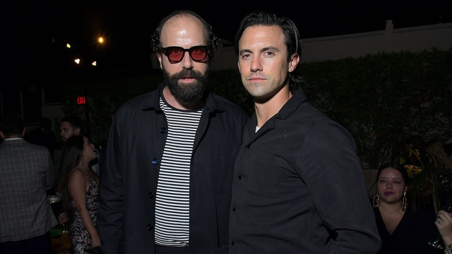 Audi Celebrates the 71st Emmys Description: LOS ANGELES, CALIFORNIA - SEPTEMBER 19: (L-R) Brett Gelman and Milo Ventimiglia attend the Audi pre-Emmy celebration at Sunset Tower in Hollywood on Thursday, September 19, 2019. (Photo by Charley Gallay/Getty Images for Audi)