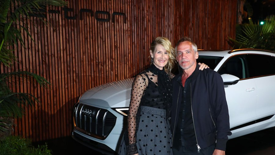 Audi Celebrates the 71st Emmys Description: LOS ANGELES, CALIFORNIA - SEPTEMBER 19: (L-R) Laura Dern and Jean-Marc Vallée attend the Audi pre-Emmy celebration at Sunset Tower in Hollywood on Thursday, September 19, 2019. (Photo by Joe Scarnici/Getty Images for Audi)