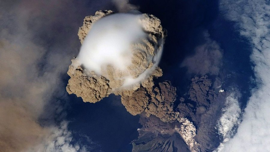 NASA gallery of World Cup countries - 13 Jun 2014 Sarychev Peak Eruption, Kuril Islands, Japan. On June 12, 2009, a fortuitous orbit of the International Space Station (ISS) made it possible for an astronaut on board to capture Sarychev Volcano in the early stages of eruption. 13 Jun 2014