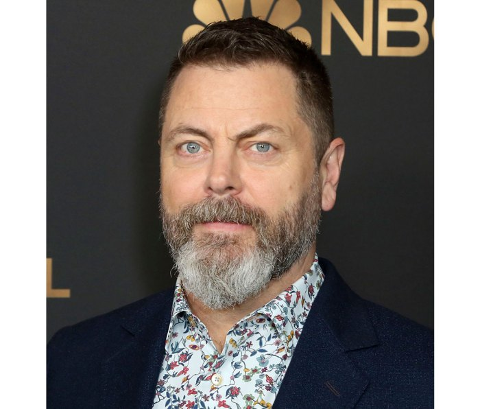 """Nick Offerman. Age: 49; Career apex: starred in NBC's """"Parks and Recreation."""""""
