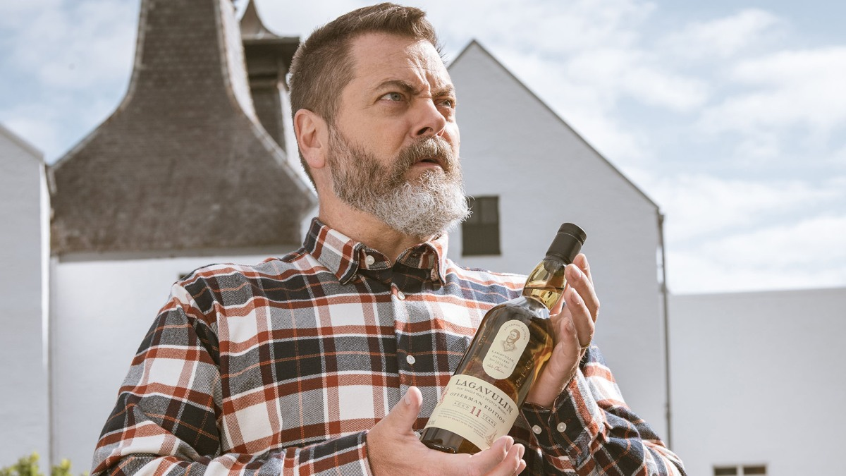 Lagavulin Is Dropping a Nick Offerman Limited-Edition Whisky This Month