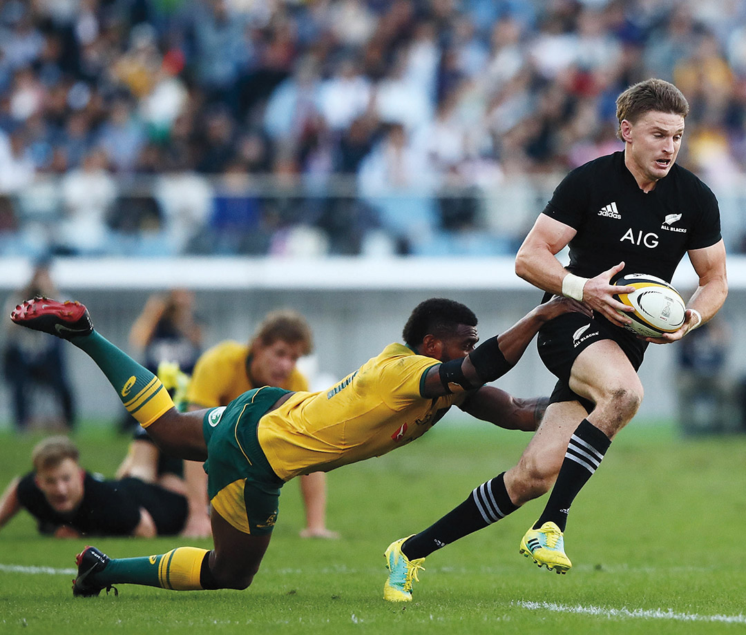 Beauden Barrett at a game in Cape Town, South Africa, in 2017