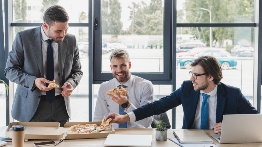 how many calories does ordering food at work cost you