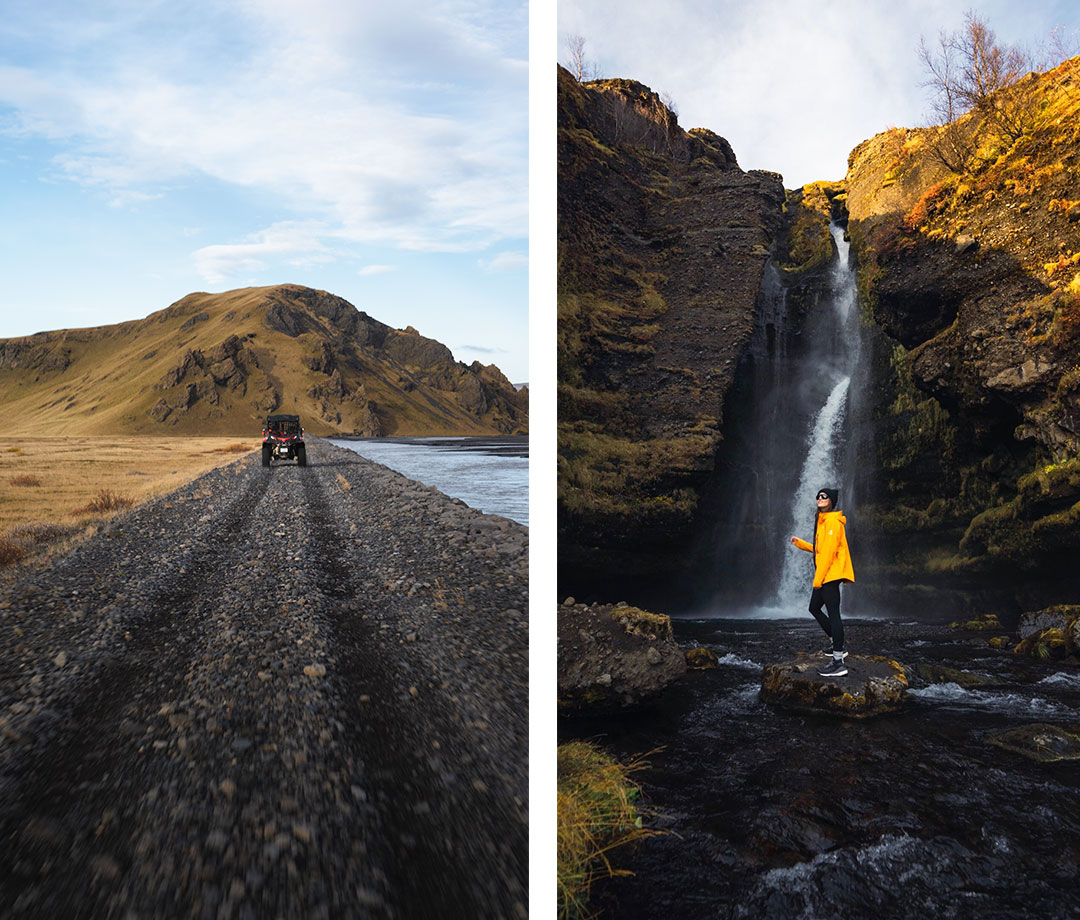 Southcoast Adventure Buggy Tour, with a pitstop at Gluggafoss (waterfall)