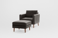 Nomad Club Chair with Ottoman