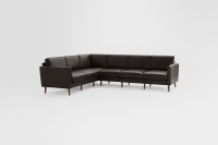 Nomad Leather 6-Seat Corner Sectional