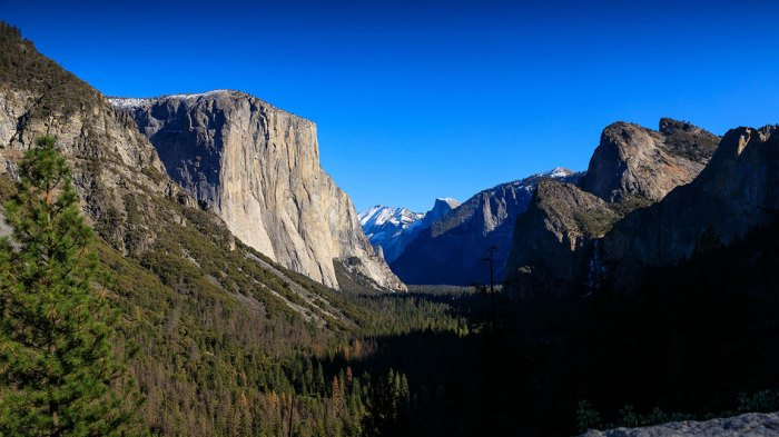 Yosemite National Park, California, USA - 08 Jan 2019 View of El Capitan from Tunnel View at Yosemite National Park; California during the partial U.S. government shutdown; where limted services and facilities are in place. 8 Jan 2019