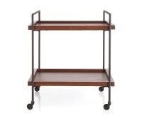 Beckett Sable Rolling Bar Cart by Crate and Barrel