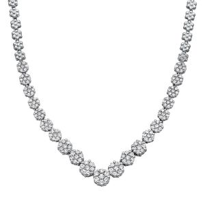 Mirabela 3 Ct. Tw. Diamond Necklace In 10K White Gold