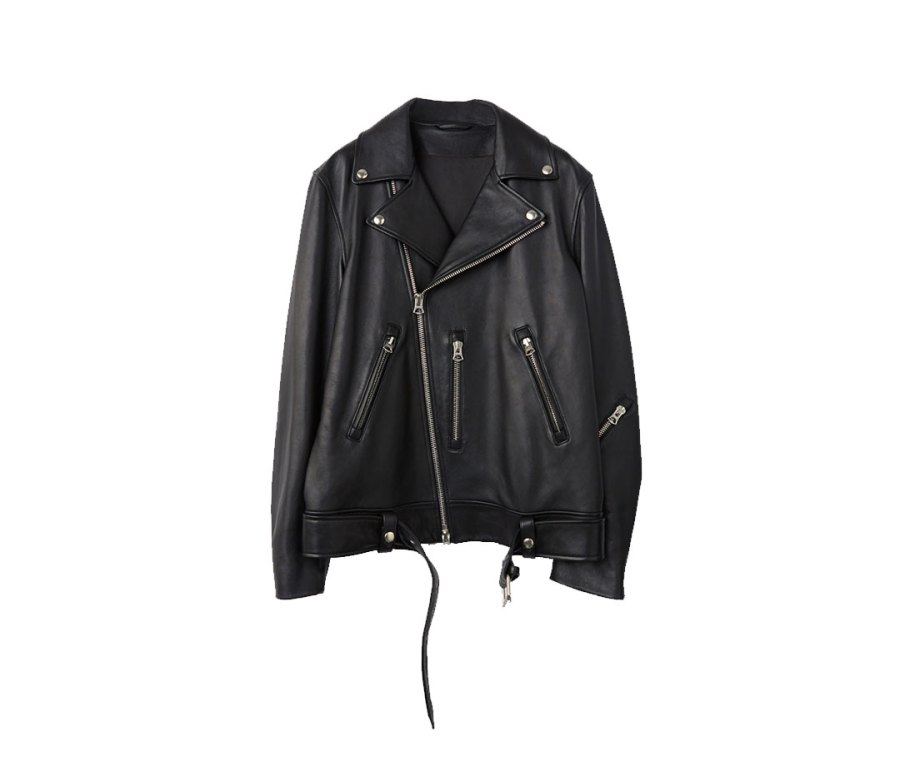 Nate Clean Black Leather Jacket from Acne Studios