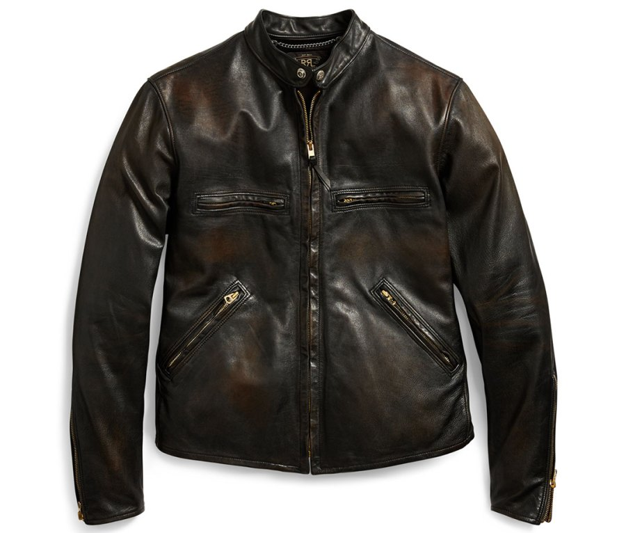 RRL Slim Fit Leather Jacket from Ralph Lauren