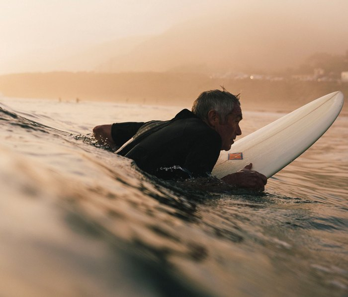 Wagner learned to surf in Malibu almost 60 years ago. He still gets out weekly.