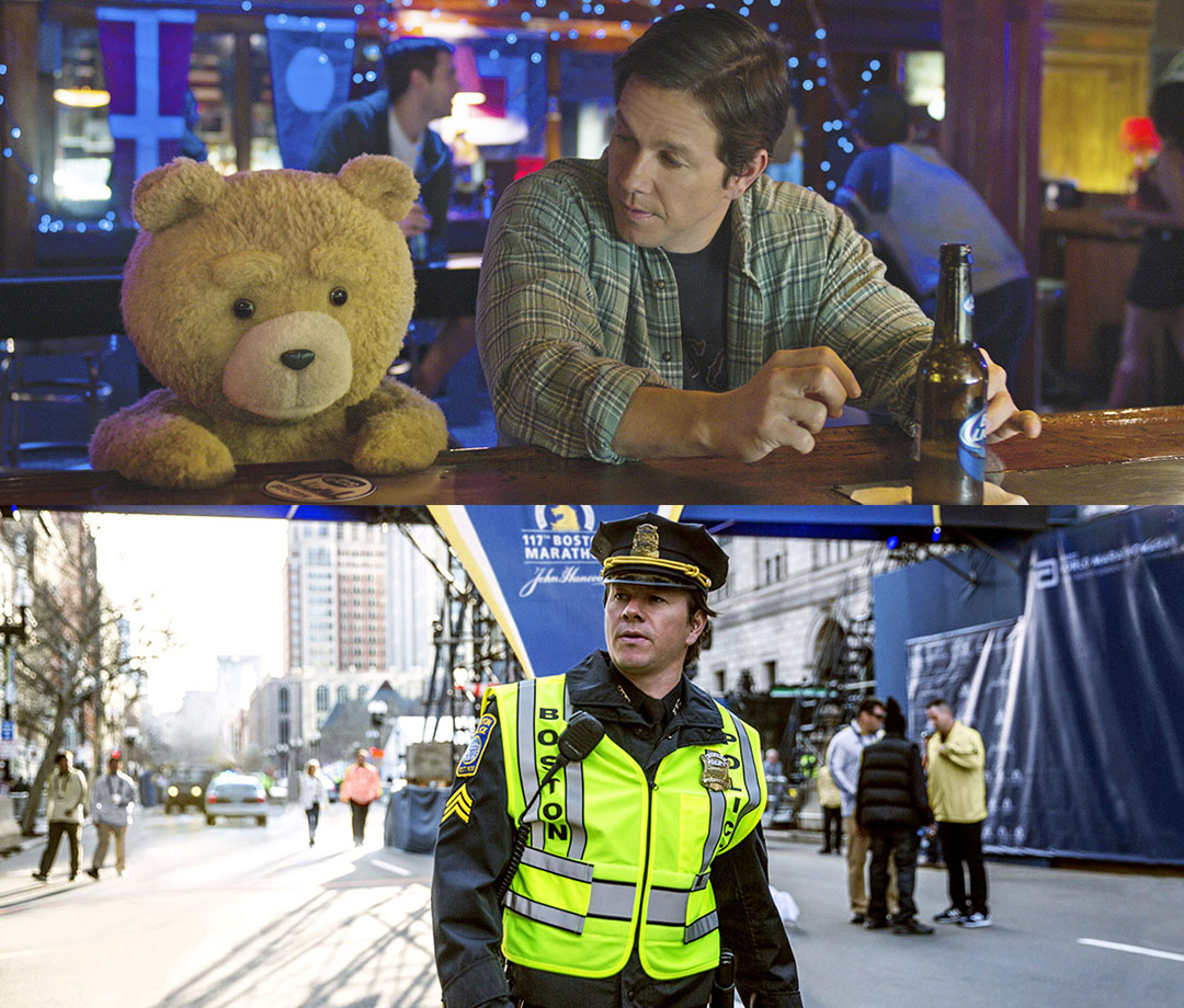 "Wahlberg can play wingman (""Ted 2"") just as well as hometown hero (""Patriots Day"")."