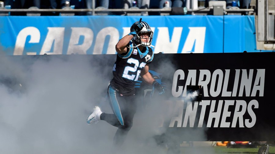 Titans Panthers Football, Charlotte, USA - 03 Nov 2019 Carolina Panthers running back Christian McCaffrey (22) takes the field prior to an NFL football game against the Tennessee Titans in Charlotte, N.C 3 Nov 2019