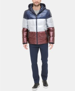 Tommy Hilfiger Pearlized Performance Hooded Puffer Coat