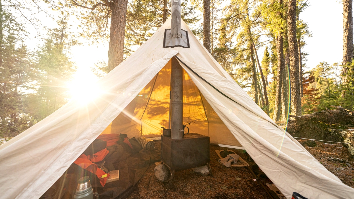 Camp Like a Canuck: How to Use a Canvas Hot Tent All Winter