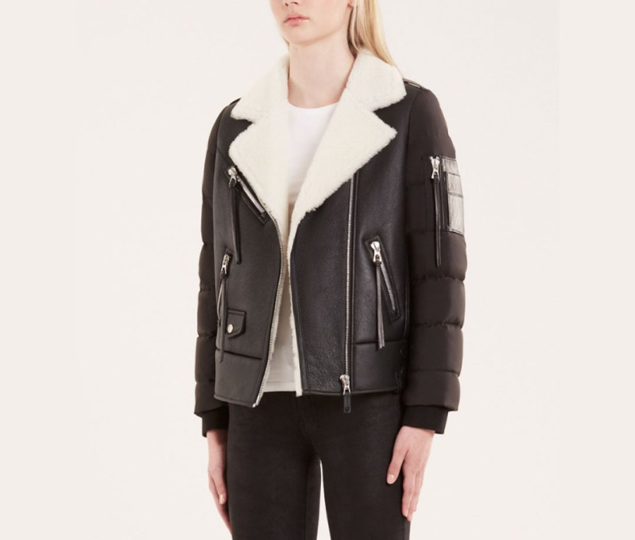 Rudsak Mala Quilted Down and Shearling Jacket