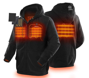 ORORO Unisex Heated Hoodie with Battery Pack