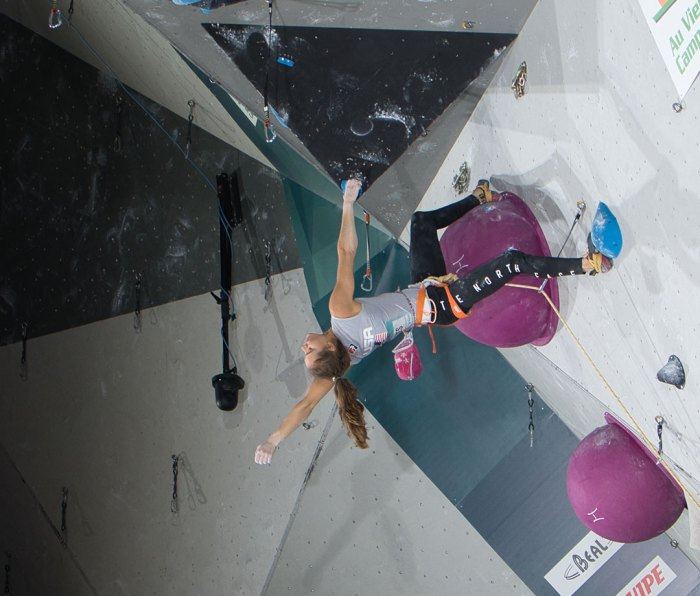 Margo Hayes at the IFSC Combined Qualifier Toulouse 2019 in France