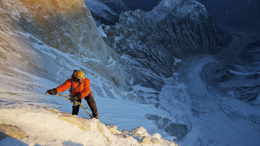 """Jimmy Chin in a still from """"Meru""""; adventures of the decade"""