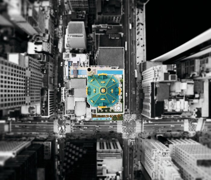 Aman New York aerial view