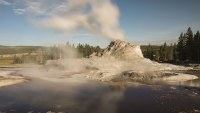 VARIOUS Steam rises from the Steamboat Geyser in Yellowstone National Park Wyoming, United States of America 2010s