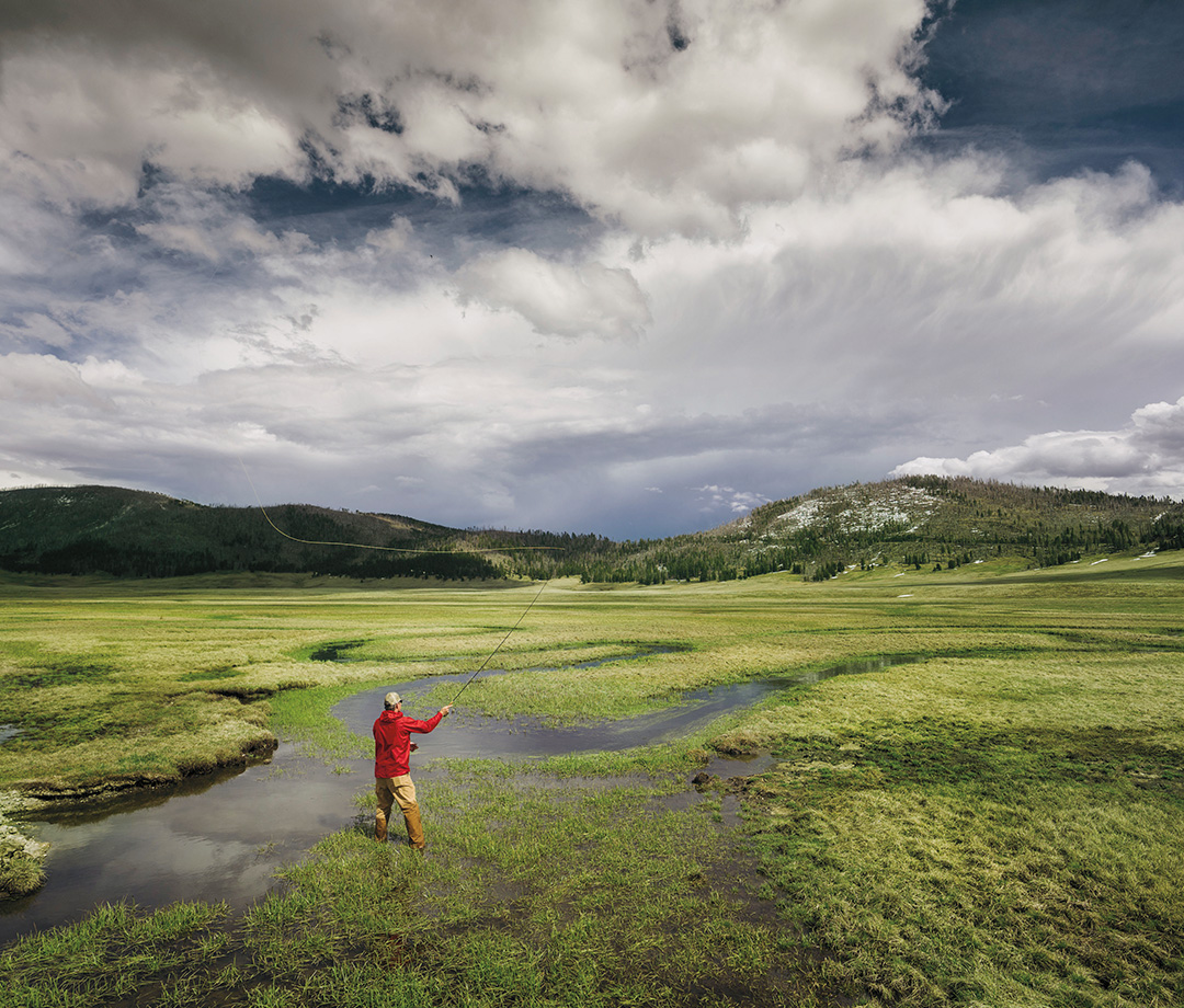 Senator Heinrich fishing the Valles Caldera, a place he helped preserve in 2014.