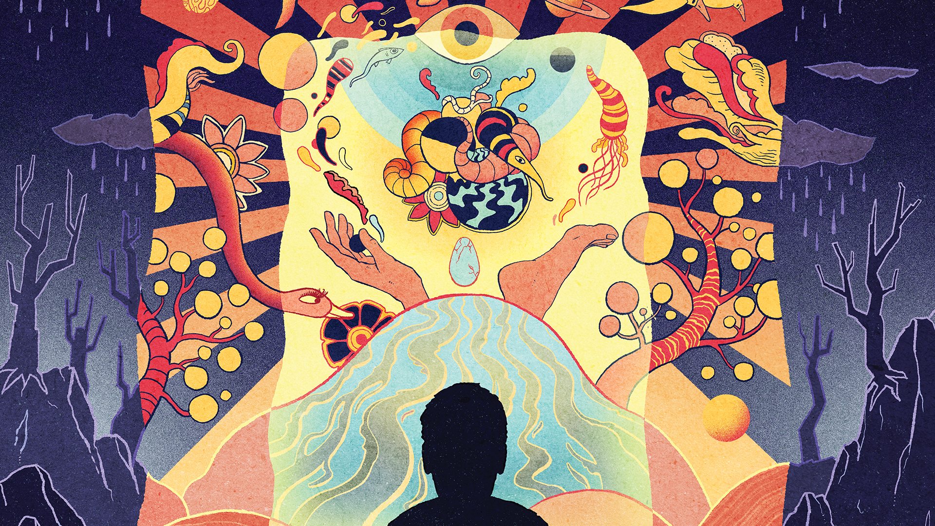 analogizes mind state of someone suffering a terminal illness contemplating through the perspective of psychedelic mushrooms