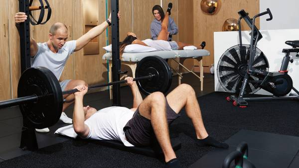 Clients at Body Evolved in New York City may get a dose of PT and training in the same visit. (rehab gym integrative athlete workout PT physical therapy)