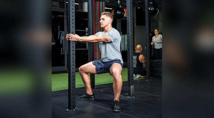 Erik Bartell Performing the Strong Horse Stance Squat
