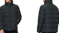 Godwin Faux Fur Collar Down & Feather Fill Quilted Coat