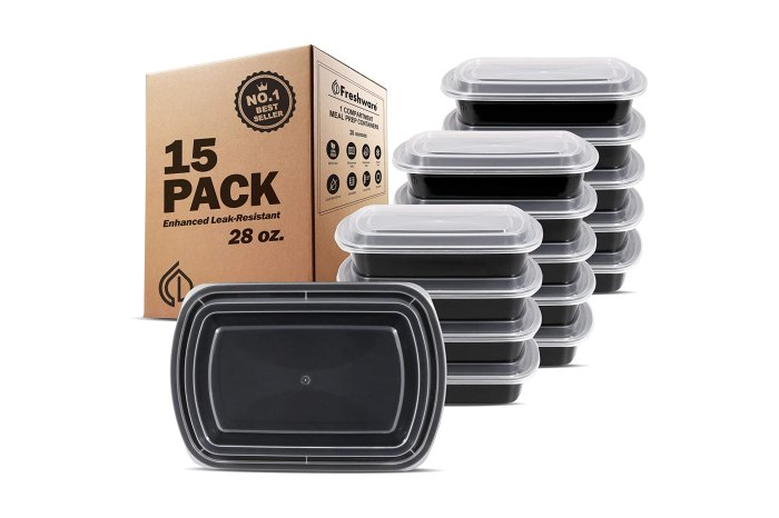 Freshware Meal Prep Containers 15-pack
