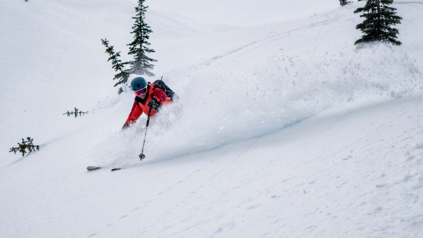 Greg Hill finds powder.
