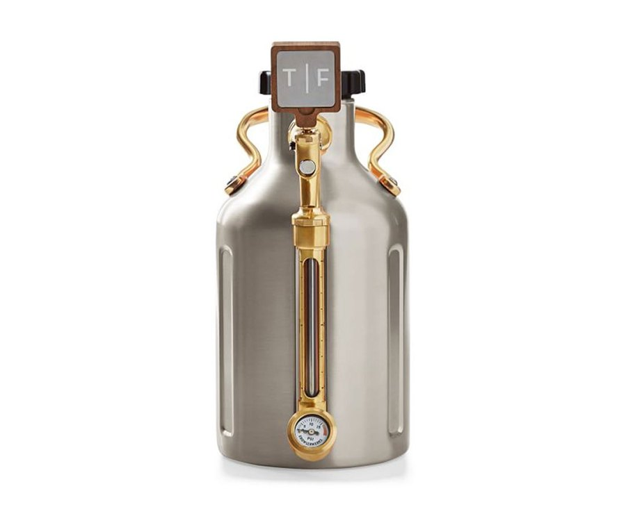 Growlerwerks uKeg Growler With Tap Handle, 128oz